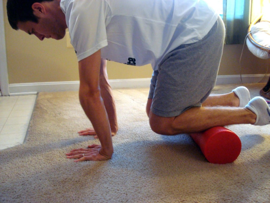 Front of Shins Foam Rolling
