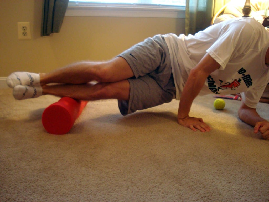 Side of Shins Foam Rolling